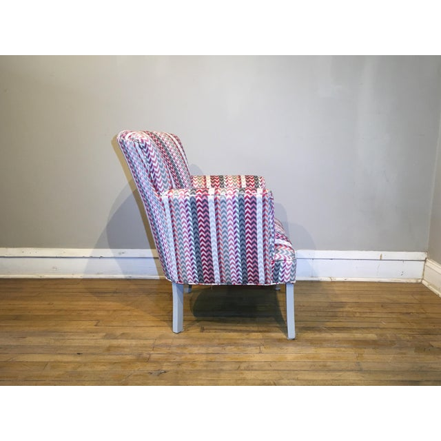 Vintage Mid Century Petite Armchair For Sale - Image 4 of 8