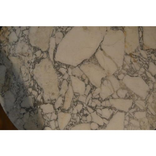 White Marble Top Gueridon Center Table For Sale - Image 8 of 12