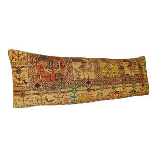 Turkish Kilim Lumbar Pillow 16x47 For Sale