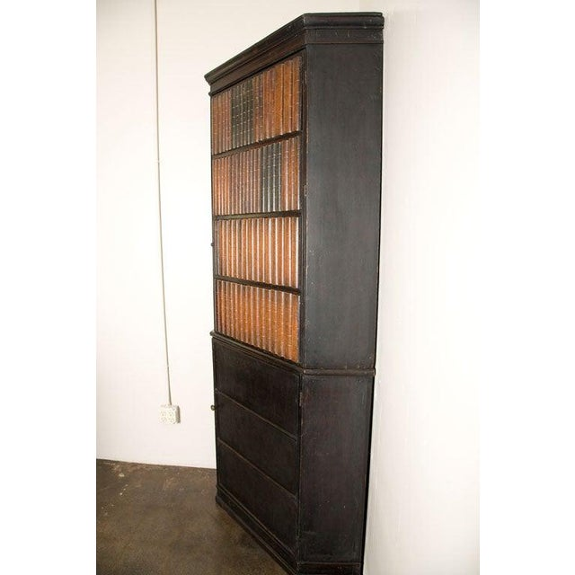 19th Century English Corner Cupboard with Faux Front Panel Door For Sale - Image 12 of 13