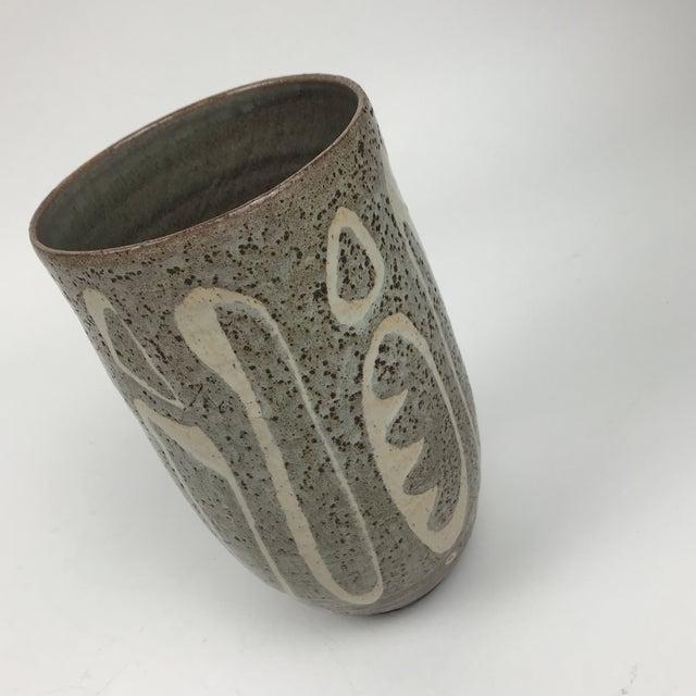 Ceramic Mid-Century Modern Studio Pottery Vase For Sale - Image 7 of 8
