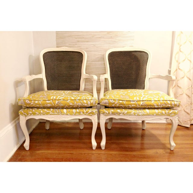 20th Century French Country Cane Back Chairs - a Pair For Sale - Image 11 of 11