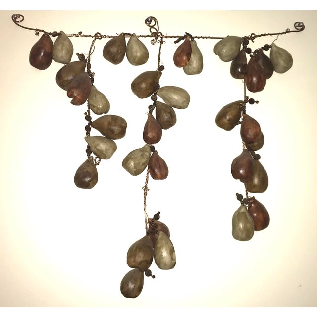 """Ceramic and Copper Hanging Wall Sculpture Signed """"Muddy Rain"""" For Sale In Atlanta - Image 6 of 6"""