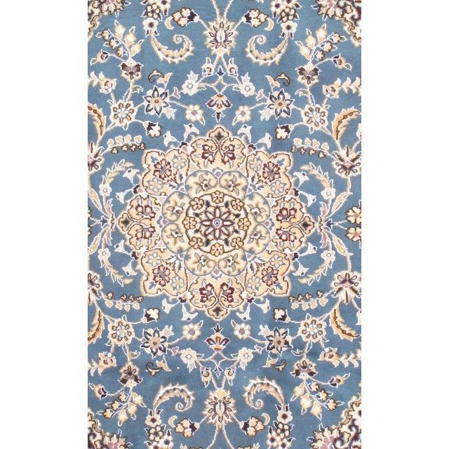 "Persian Fine Persian Nain Silk & Wool Rug - 2'10' X 4'7"" For Sale - Image 3 of 3"