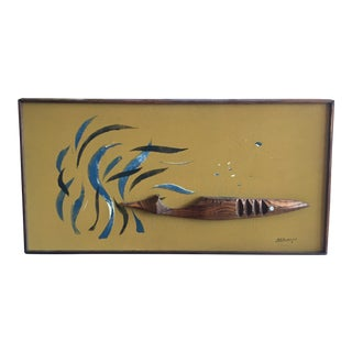 Mid-Century Witco Whale Wall Art For Sale