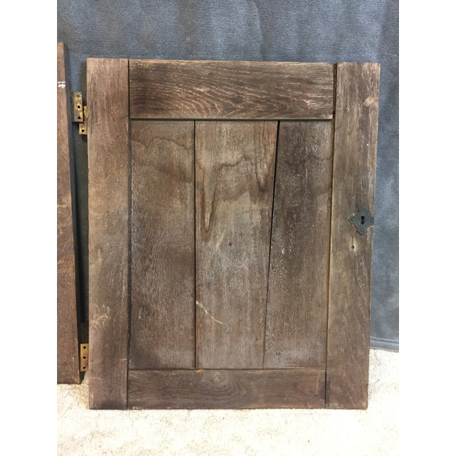 Vintage Rustic Wood Cabinet Doors - A Pair For Sale - Image 10 of 11