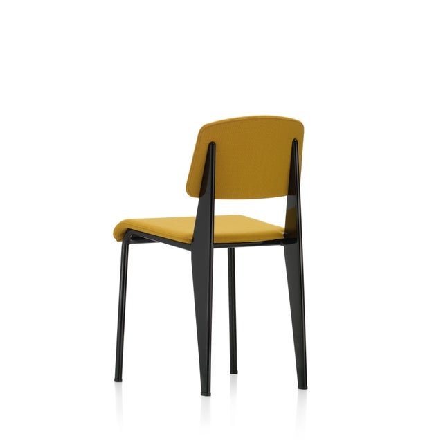 Mid-Century Modern Vitra Standard SR Chair in Canola and Deep Black by Jean Prouvé For Sale - Image 3 of 9