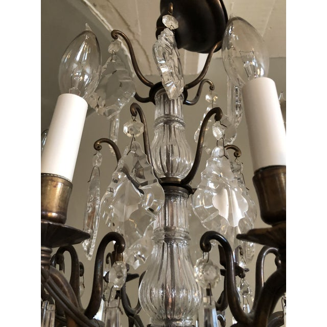 1940s Vintage Petite Marie Therese Crystal Chandelier For Sale - Image 5 of 9