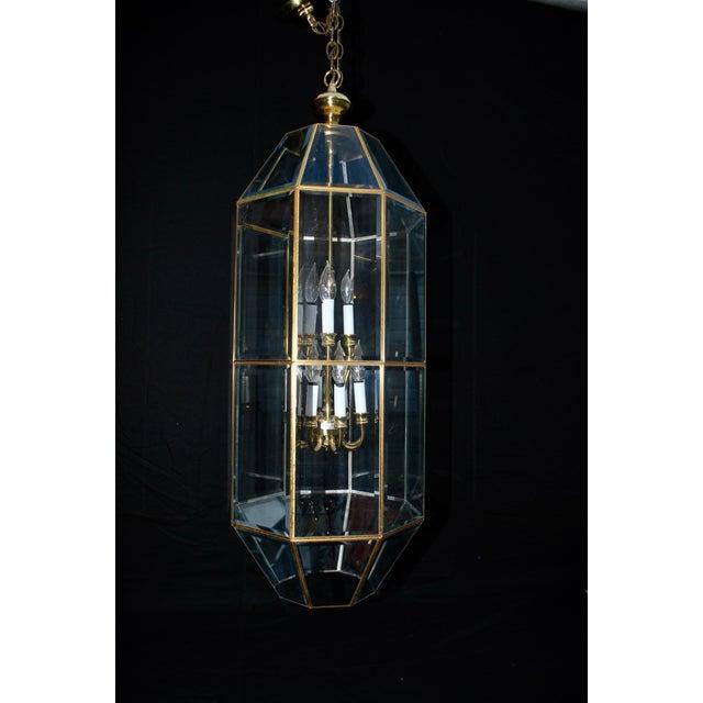 Mid-Century Modern Brass Lantern For Sale - Image 3 of 5
