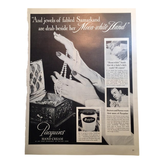 1946 Vintage Paquin's Hand Cream Ad - Image 1 of 4