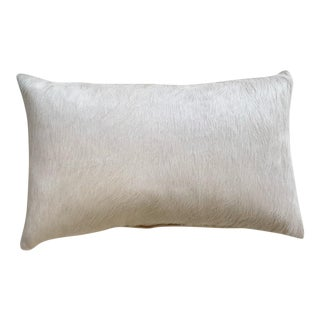 "Forsyth 13x21"" Ivory Brazilian Cowhide Pillow For Sale"