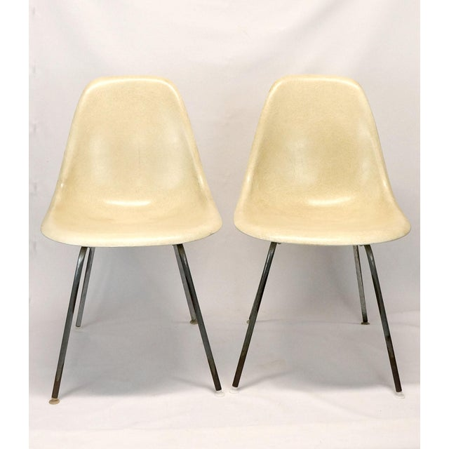 1960s Mid-Century Modern Fiberglass Eames Chairs- a Pair For Sale - Image 12 of 12