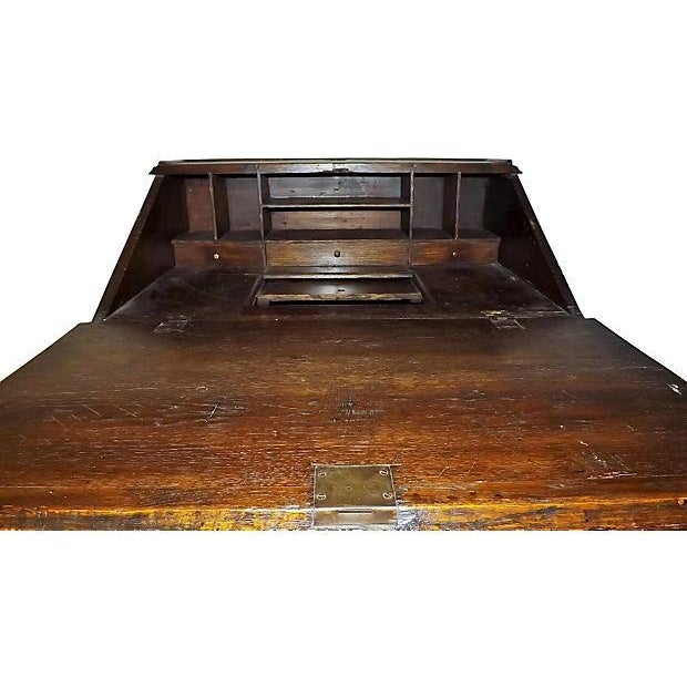 English Jacobean Oak Desk on Stand For Sale - Image 4 of 8