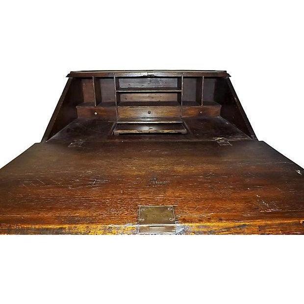 English Jacobean Oak Desk on Stand - Image 4 of 8