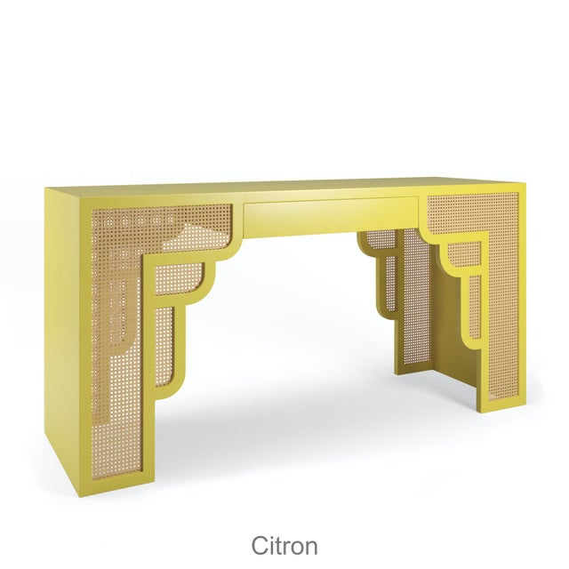 Not Yet Made - Made To Order Habanera Desk - Citron For Sale - Image 5 of 5