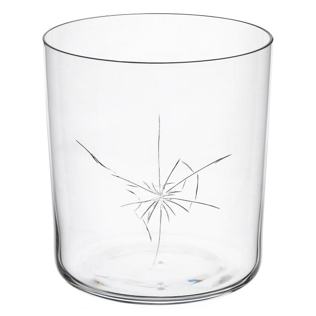 """NEO Crack"" C mouth-blown glass tumbler with hand-engraved ""Crack"" decoration designed by Murray Moss. There are 4..."