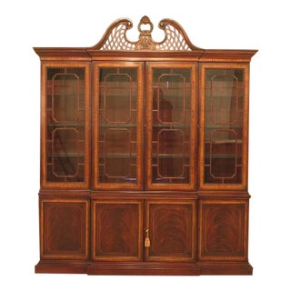Drexel Heritage Inlaid Mahogany 4 Door China Cabinet