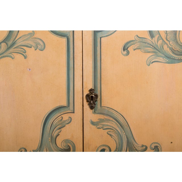 Painted Italian Cabinet with Glazed Doors - Image 5 of 6