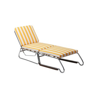 Tubular Chrome Lounge Chair For Sale