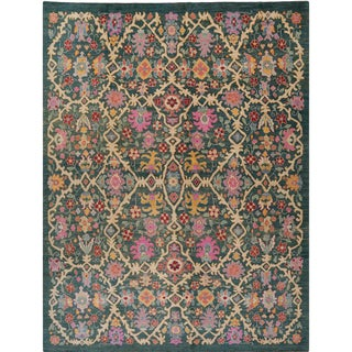 """Traditional Handwoven Turkish Oushak Area Rug - 11'8""""x15'8"""" For Sale"""