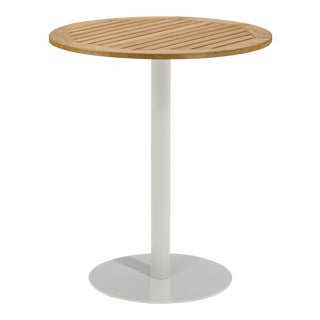 "36"" Round Outdoor Bar Table, Natural For Sale"