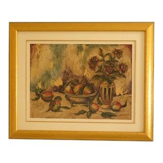 Gold Framed Decorative Still Life Print