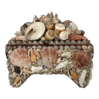 Organic Modern Style Shell Jewelry Box For Sale
