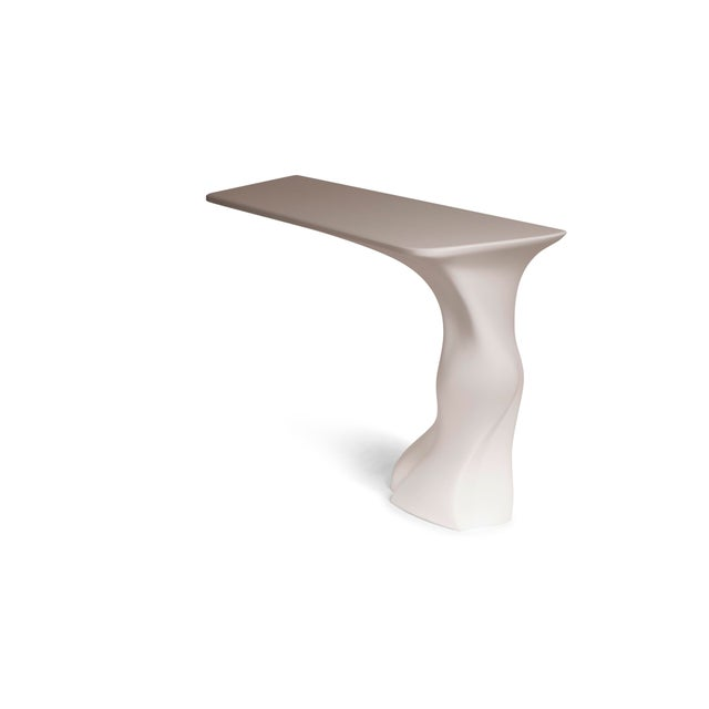 Not Yet Made - Made To Order Amorph Frolic Console White Matte Wall Mounted For Sale - Image 5 of 7