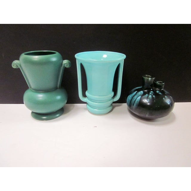 Mid-Century Modernist Pottery Vases - Set of 3 - Image 10 of 10
