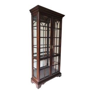 1990s Traditional Statton Furniture Display Cabinet