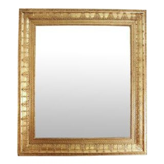 19th Century French Rectangular Gilt Charles X Style Mirror
