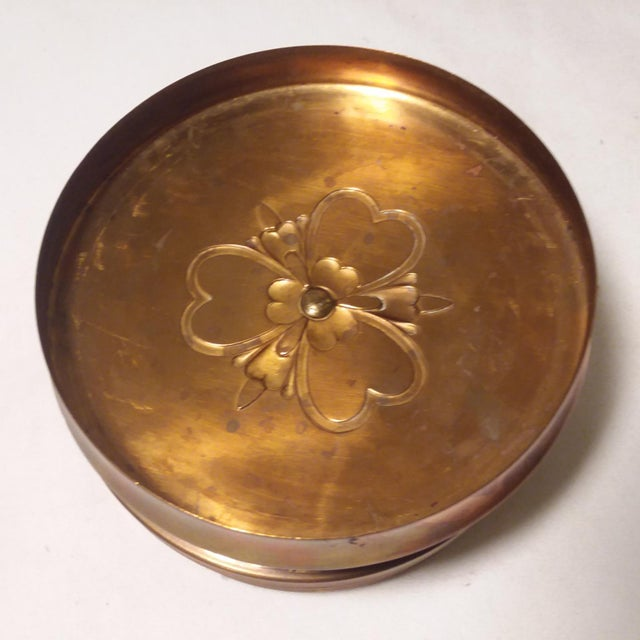 Gold Art Deco Chase Vanity Powder Jar For Sale - Image 8 of 11