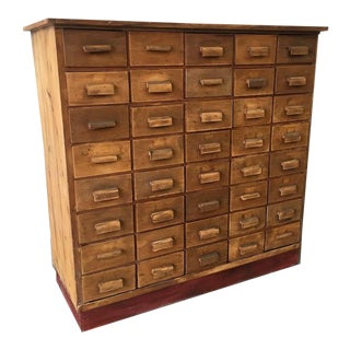Antique Pine Apothecary Cabinet For Sale