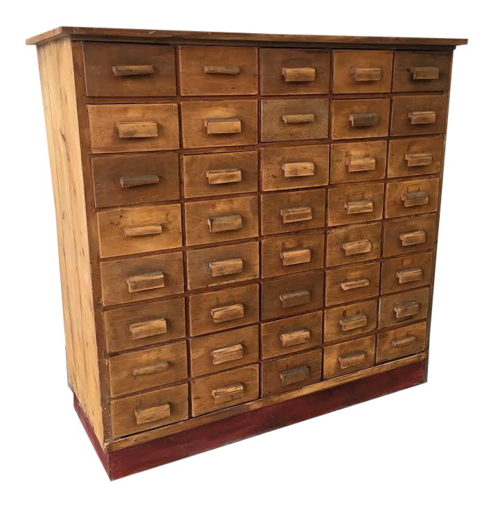 Antique Pine Apothecary Cabinet