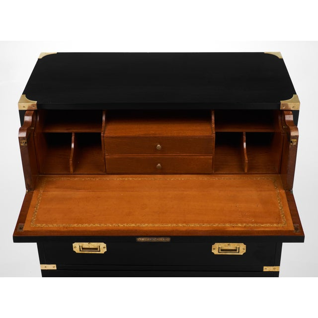 English Campaign Style Secretary Chest - Image 8 of 11