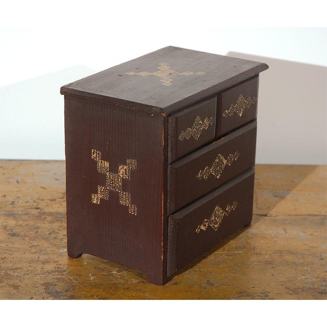 Mid 19th Century 19th Century Miniature Chest of Drawers in Original Paint For Sale - Image 5 of 6