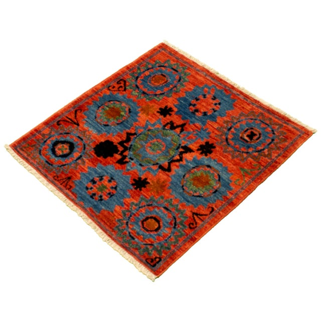 Boho Chic Hand-Knotted Rug For Sale - Image 4 of 9
