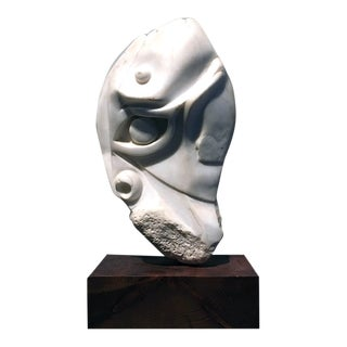 [unattributed] American Sculpture Hand-carved Stone : Moses, Ca.1940. For Sale