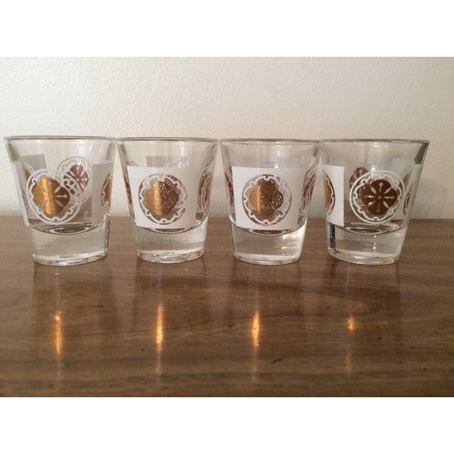 Mid-Century Medallion Shot Glasses- Set of 4 - Image 2 of 5