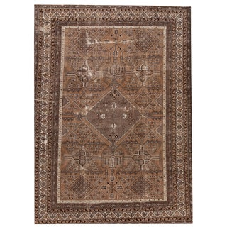 """20th Century Antique Distressed Mahal Rug, 9'6"""" X 13'4"""" For Sale"""