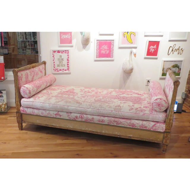 Antique Daybed/Fainting Sofa For Sale - Image 4 of 11