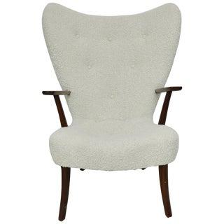 1960 Fritz Hansen Wing Chair in Alpaca For Sale