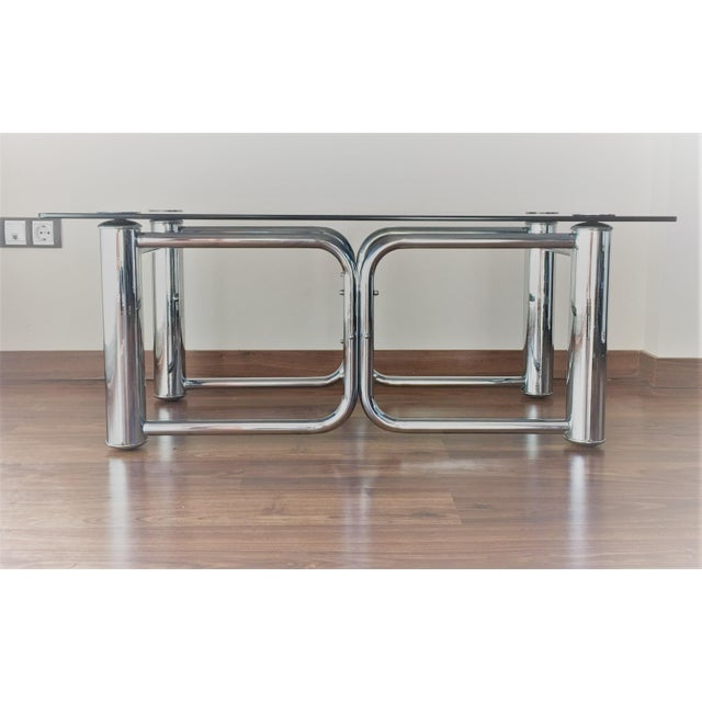 Mid-Century Modern Chrome Coffee Table - Image 2 of 11