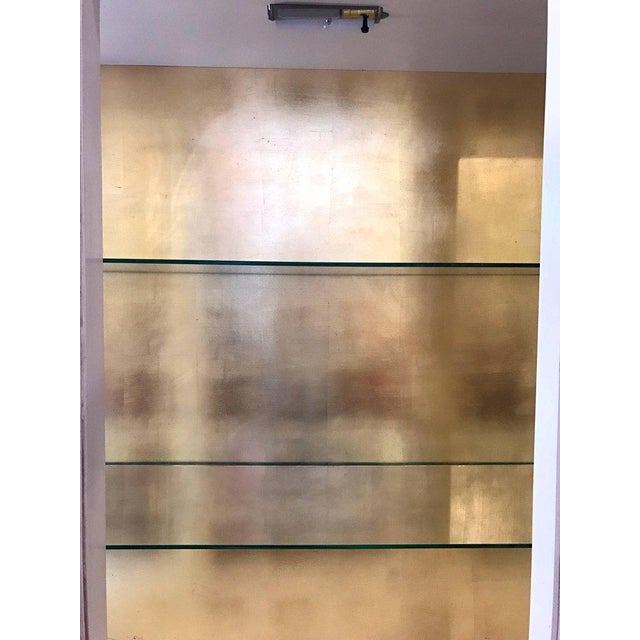 Italian Cream Painted and Gold Gilt Display China Cabinet Vitrine For Sale In New York - Image 6 of 10