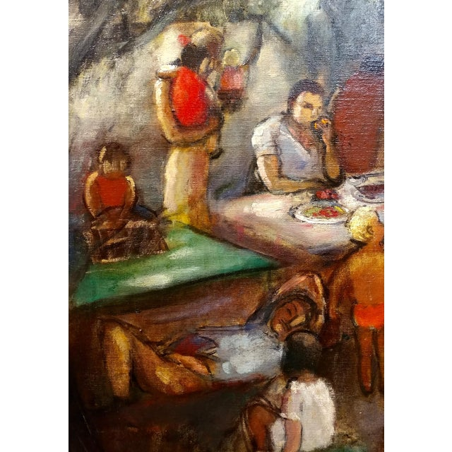 Frances Beatrice Lieberman-1935 Picnic at Alum Rock-Oil Painting-S.F. Museum of Art For Sale - Image 4 of 10
