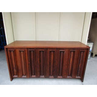Pecky Cypress and Walnut Credenza by Dillingham Preview