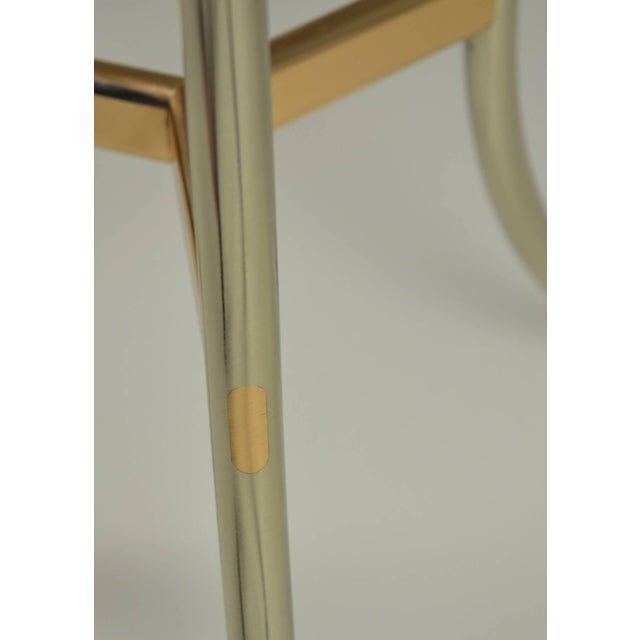 Cedric Hartman Cedric Hartman Side Table, Steel and Brass Base For Sale - Image 4 of 10