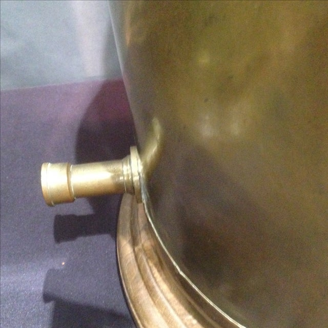 Monumental Brass Tea Canister Lamps- A Pair - Image 6 of 9