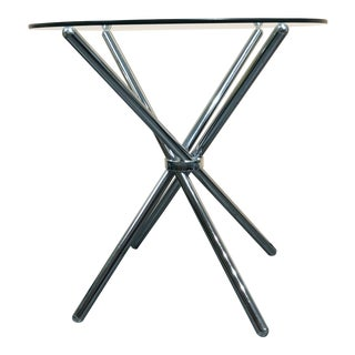 Minimalist Chrome Spiral Side Table For Sale