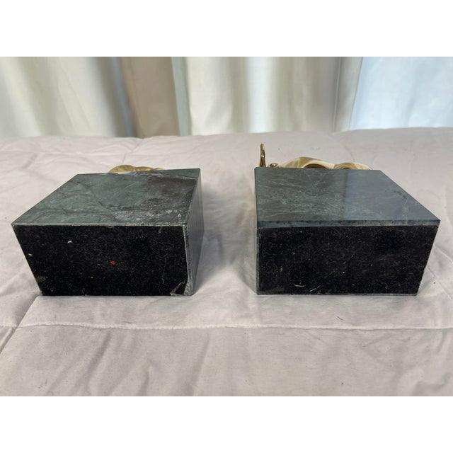 Vintage Brass Bull & Bear Stock Market Bookends - a Pair For Sale - Image 9 of 10